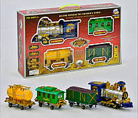 Игрушка детский паровоз с вагоном на батарейках 2413