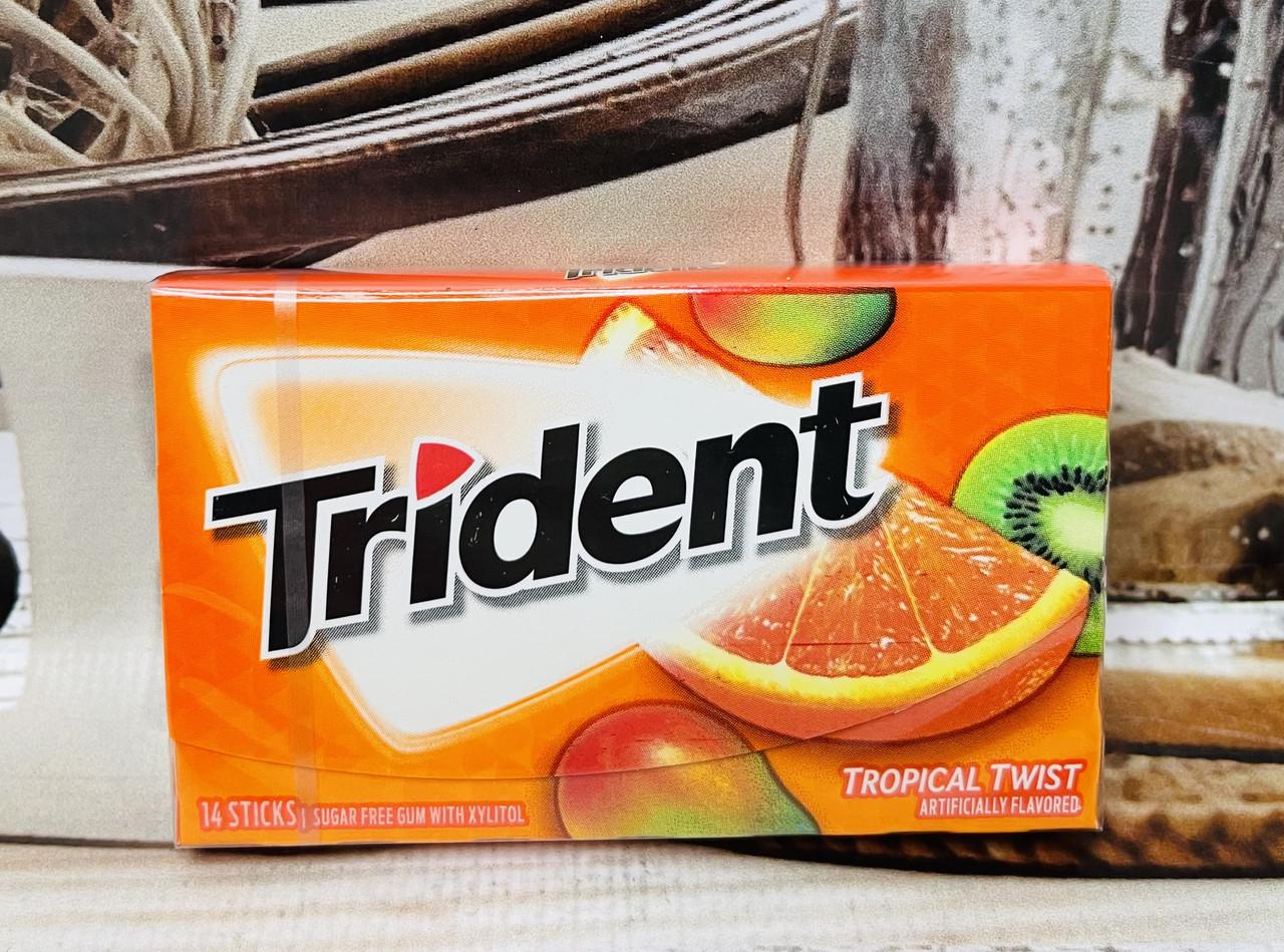 Жвачка Trident Tropical Twist Тропические фрукты