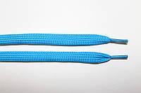 Шнурки плоские (чехол) 10мм. бирюза