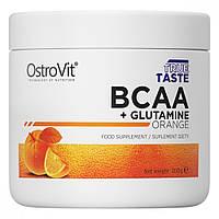 OstroVit BCAA L-Glutamin 200 g (Апельсин)
