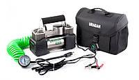 Автомобильный компрессор Uragan 90170 85л/мин 10Атм двухпоршневой компересор для подкачки R13-R21 Ураган