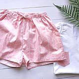 Пижама с розовыми шортами и футболкой, фото 2