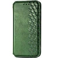 Кожаный чехол книжка GETMAN Cubic (PU) для Samsung Galaxy A21s, Чехол-книжка для смартфона самсунг