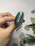 Кольцо лабрадор в серебре кольцо с лабрадором 16,2 размер Индия, фото 3