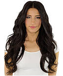 Тресса из натуральных волос 60 см. Цвет #02 Темно-Коричневый, фото 3