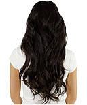 Тресса из натуральных волос 60 см. Цвет #02 Темно-Коричневый, фото 4