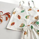 Сатиновая пижама с папайя, шорты майка, фото 2