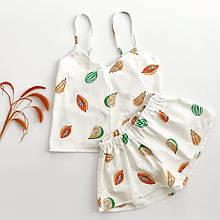 Сатиновая пижама с папайя, шорты майка