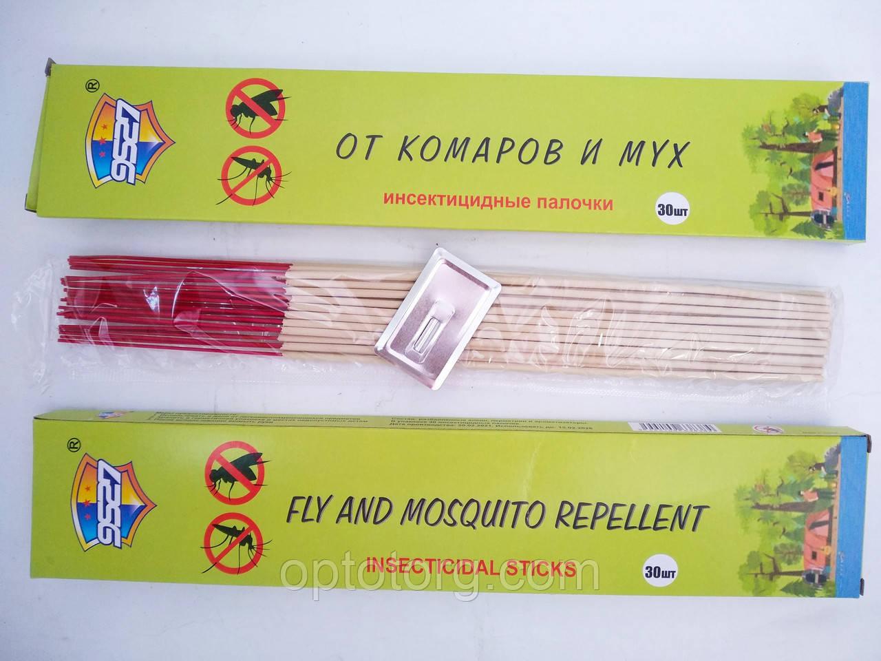 Стержни инсектицидные палочки  от комаров и мух 30 штук  Ø 3мм
