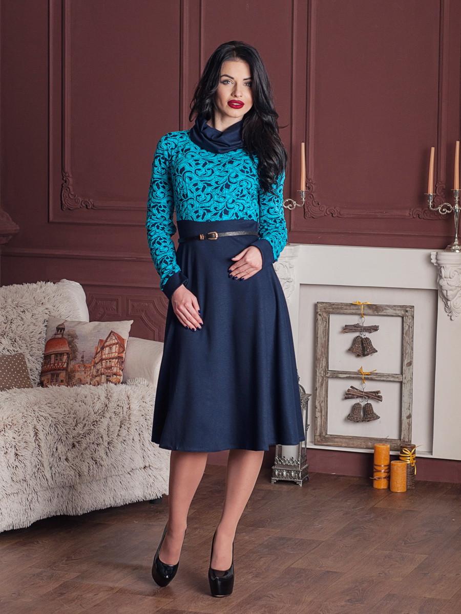 bd8cf404038 Строгое офисное женское платье с пышной юбкой - MIZZ в Хмельницком