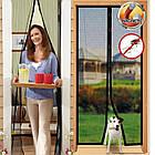 """Москитная сетка на магнитах на двери """"Magic Mesh"""" в упаковке, 200 см. х 104 см., бежевая, фото 4"""