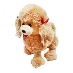 Мягкая игрушка собачка Пудель (коричневый) 4028-26