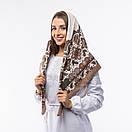 Кашемірова хустка з принтом 90х90см, фото 3