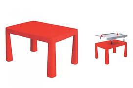 Столик дитячий з аерохоккеєм 04580   81,5 * 56 * 48 см   Червоного кольору