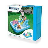 Надувний ігровий центр Bestway 53052 «Акваріум», 239 х 206 х 86 см,з гіркою, з іграшками, фото 5