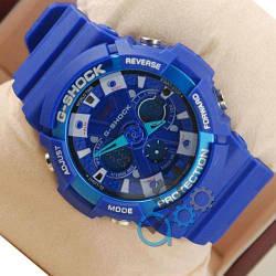 Спортивні годинник Casio GA-200 Синій Чоловічі Касіо га Джі Шок наручні Електронні на руку Кварцові СПОРТ