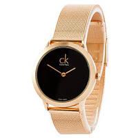 Наручные женские часы Calvin KleinCuprumклассические Годинниккельвин кляйнна руку Кварцевые 100% КАЧЕСТВО!