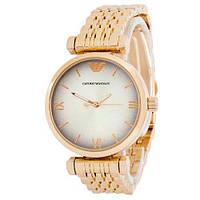 Наручные часы Emporio Armani 6721 Gold-White Женские Эмпорио на руку Армани Кварцевые 100% КАЧЕСТВО!