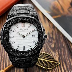 Наручные часы Patek Philippe Nautilus 5990 Мужские годинник NEW Швейцарские на руку Кварцевые ТОП!