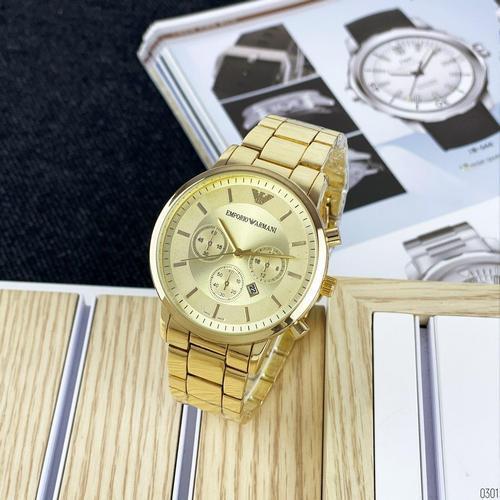 Наручний годинник Emporio Armani QQ Gold Золоті Жіночі Емпоріо на руку Армані золото Кварцові 100% ЯКІСТЬ!