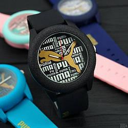 Спортивні годинник Puma Black наручні NEW Чоловічі на руку Кварцові Чорні СПОРТ
