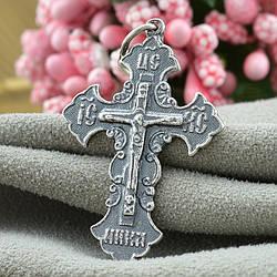 Серебряный крестик с чернением Православный размер 40х22 мм вес 3.1 г