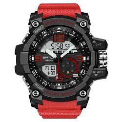 Спортивные часы Sanda 759 Red-Black наручные NEW Мужские годинник на руку Кварцевые электронные СПОРТ