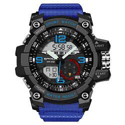 Спортивные часы Sanda 759 Blue-Black наручные NEW Мужские годинник на руку Кварцевые электронные СПОРТ