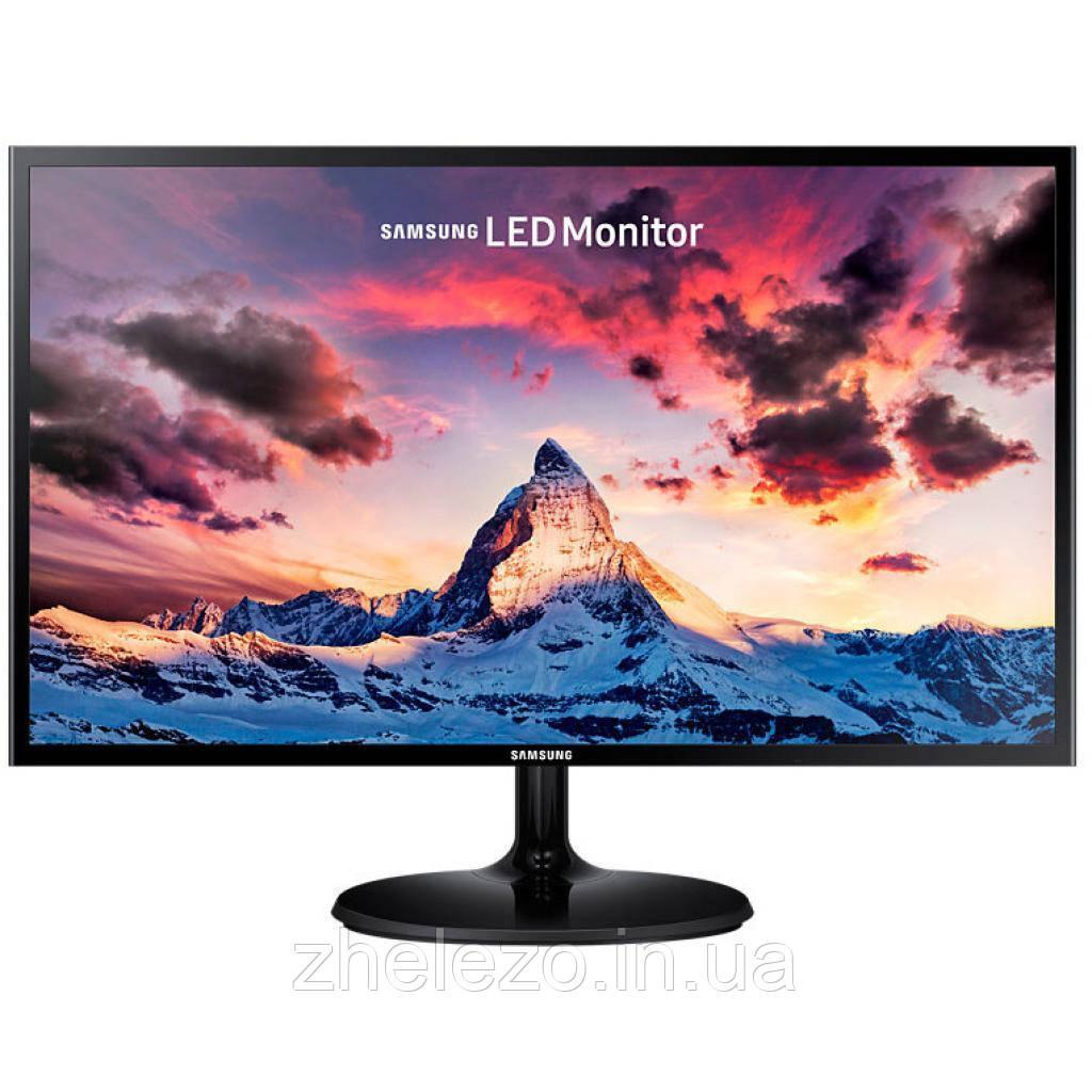 """Монітор Samsung 23.5"""" S24F350F (LS24F350FHIXCI) PLS Black; 1920x1080, 4 мс, 250 кд/м2, D-Sub, HDMI"""