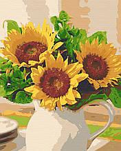 Картина по номерам натюрморт 40х50 Солнце в вазе