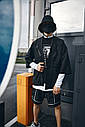 Кимоно чёрного цвета от бренда ТУР модель Хиори,размер S,M,L,XL, фото 9