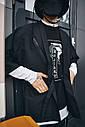 Кимоно чёрного цвета от бренда ТУР модель Хиори,размер S,M,L,XL, фото 3