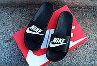 Мужские сланцы тапочки Nike черные