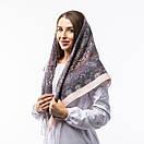 Кашемірова хустка з принтом 90х90см, фото 6