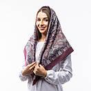 Кашемірова хустка з принтом 90х90см, фото 7