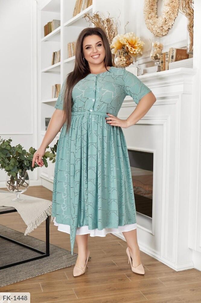 Мереживне плаття з підкладкою (Батал)