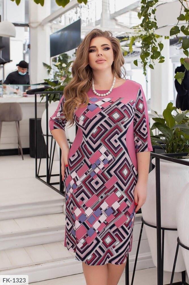 Платье свободный кроя  (Батал)