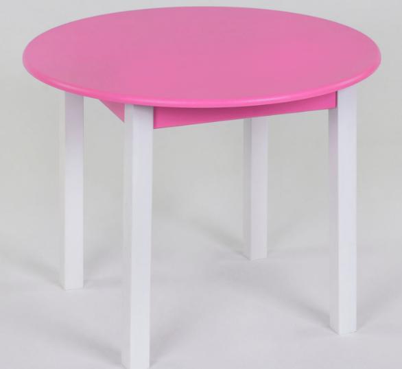 Дитячий ігровий столик, круглий 60 рожевий
