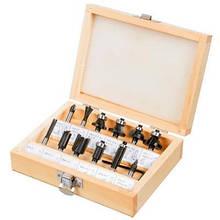 Набор инструментов Verto фрез 12 шт, хвостовик 6 мм (60H008)
