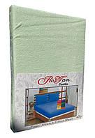 Махровый комплект на резинке Royan в силиконовой упаковке 160*200 см Мохито, фото 1