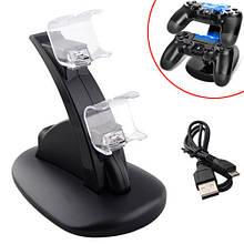 Зарядная док станция для зарядки 2 геймпадов DualShock 4 PS4