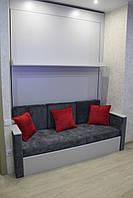 Шкаф-кровать-диван, массив ясень, дсп