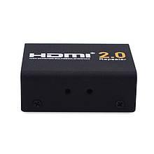 Усилитель HDMI сигнала HD-R121A, до 30м, 4K UHD, hdmi 2.0