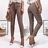 Стильные модные зауженые укороченые женские брюки в деловом стиле (р.42-48). Арт-3711/31