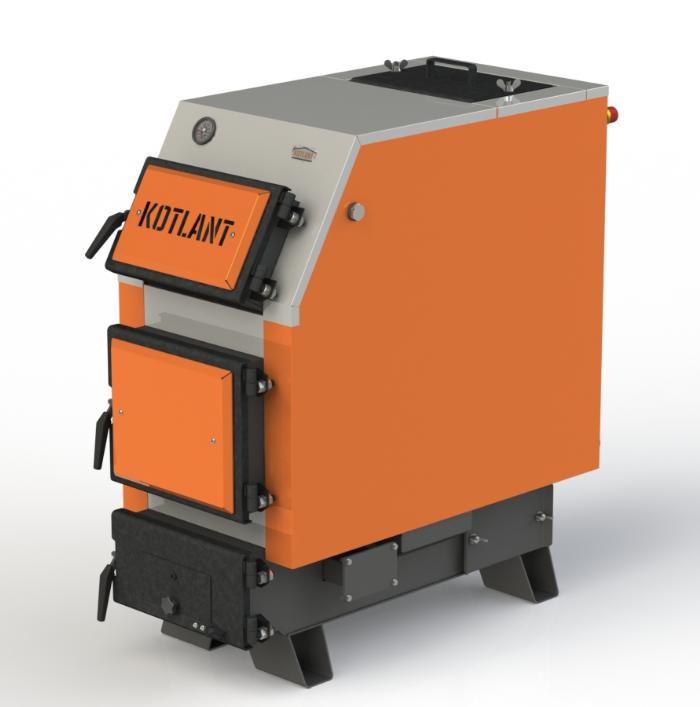 Твердотопливный котел длительного горения Kotlant КВУ 25 кВт базовая комплектация