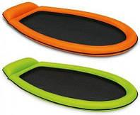 Надувной шезлонг для плавания сетчатый с подголовником SKL11-292247