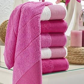 Набір рушників Eponj Home - Vorteks 50*85 (6 шт) fitilli pembe рожевий
