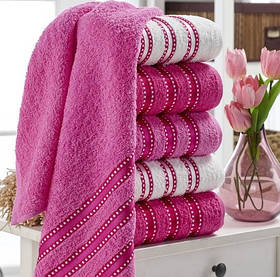 Набір рушників Eponj Home - Vorteks 50*85 (6 шт) makara pembe рожевий