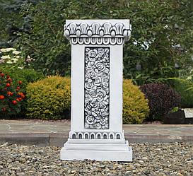 Садовая скульптура Колонна квадратная большая 76х38х38 см Серый