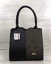 Классическая женская сумка Aliri-317-15 черная с серым